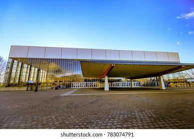 Portland, US - Dec 21, 2017 : The Veterans Memorial Coliseum, which is a 12,888-seat multipurpose arena located on the Rose Quarter campus