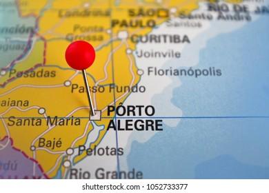 Porto Alegre Map Images Stock Photos Vectors Shutterstock