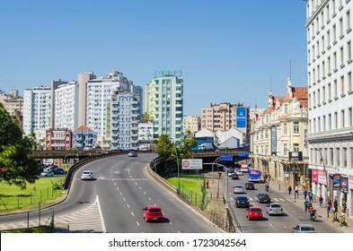 Porto Alegre / Rio Grande do Sul / Brasil - March 12, 2020: Street view and buildings in the city of Porto Alegre, southern Brazil