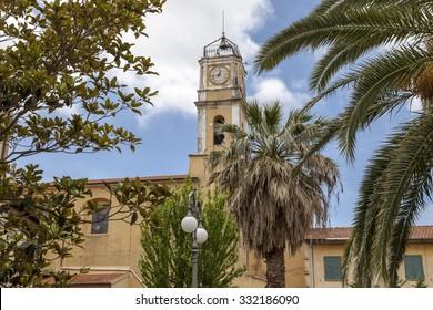 Porto Azzurro, church Chiesa di San Giacomo Maggiore, Elba, Tuscany, Italy, Europe