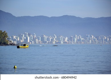 Porto Belo santa catarina, Itapema, cities of the brazilian coast, beach with boat