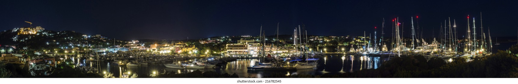 porto cervo by night