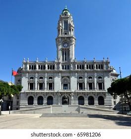 Porto City Hall at Avenida dos Aliados