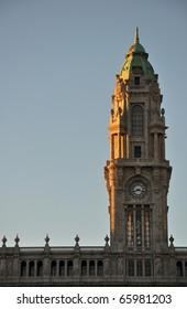 Porto City Hall in the evening light