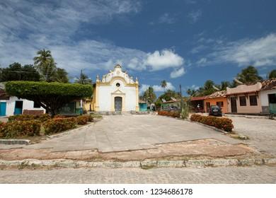Porto de Pedras, Alagoas / Brazil - 09/13/2015: São Gonçalo Church, Tatuamunha district, on Alagoas North Coast