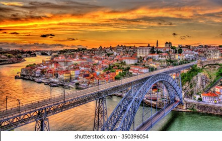 Porto with Dom Luis Bridge - Portugal