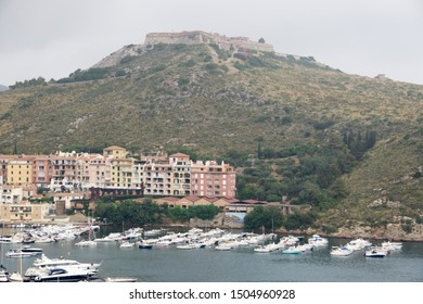 Porto Ercole, one of the most beautiful villages of Italy Tuscany Italy on July 9, 2019