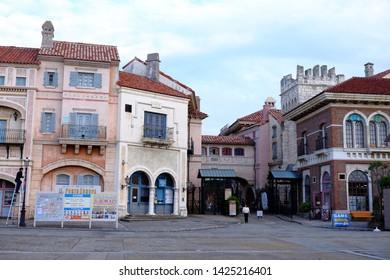 Porto Europa Wakayama,Japan:Poeto Europa is a romantic theme park which has constructed a full-scale reproduction of the streets of Europe in Wakayama Marina City,Wakayama,Kansai,Japana-Oct 27, 2018