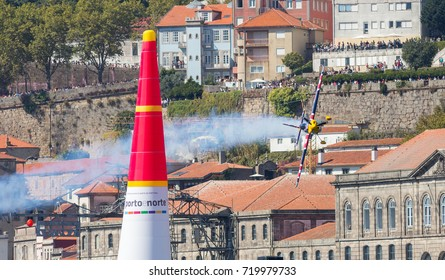 Porto & Gaia, Portugal - September 3, 2017: Red Bull Air Race, Raicing Day, Pilot: Martin Sonka from Czech Republic Team Red Bull Team Sonka.