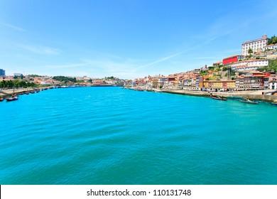Porto, also known as Oporto. A cityscape along the Douro river. Portugal, Europe.
