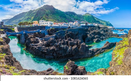 Porto Moniz, little village at Madeira island, Portugal