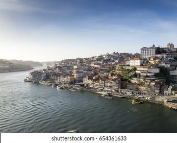 Porto old town on the Douro River, Portugal