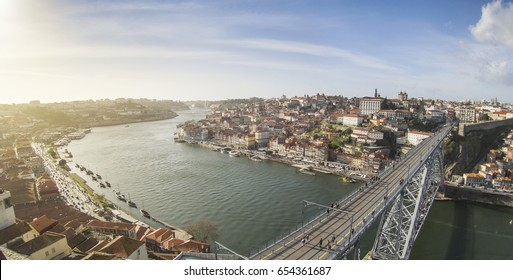 Porto old town on the Douro River, Portugal