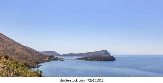 Porto Palermo bay and Ali Pasha castle - Himare, Albania