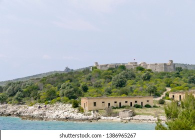 Porto Palermo Castle situated in the bay of Porto Palermo, built in early 19th century by Ali Pasha of Tepelena, Albania, Europe