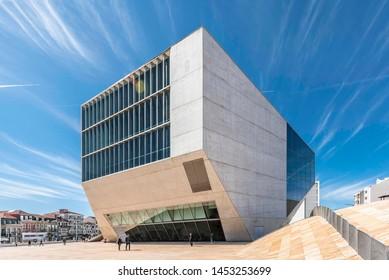 Porto, Portugal - 03.18.2019: Casa da Musica, a modern concert hall in Porto