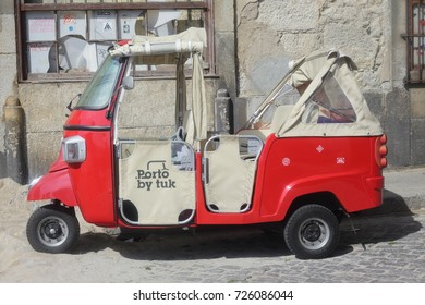Porto, Portugal - 18 Oct 2016.: traditional tuk-tuk from Porto, Portugal.