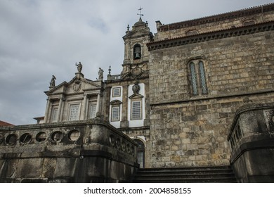 Porto, Portugal - 9 July 2021: Igreja Monumento de São Francisco (Monument Church of Saint Francis) is one of the most prominent Gothic monuments in the city.