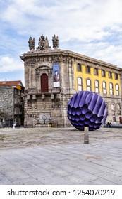 PORTO, PORTUGAL - APRIL 16, 2017: View of Field of the Homeland Martyrs Street (Rua Campo dos Martires da Patria) in old city of Porto.