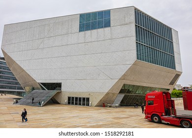 PORTO, PORTUGAL - APRIL 19, 2017: House of Music (Casa da Musica, 2005) - Modern Oporto Concert Hall; first building in Portugal exclusively dedicated to music.