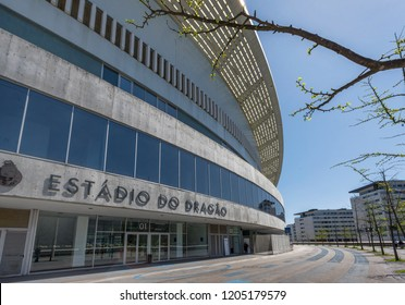 Porto, Portugal - April 2018:  view on Estadio do Dragao - the official playground of FC Porto
