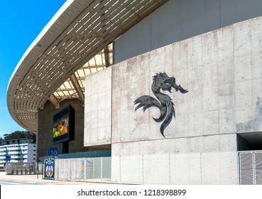 Porto, Portugal - April 2018:  view on Estadio do Dragao - the official arena of FC Porto