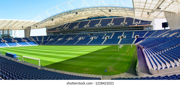 Porto, Portugal - April 2018: view on the modern arena of Estadio do Dragao
