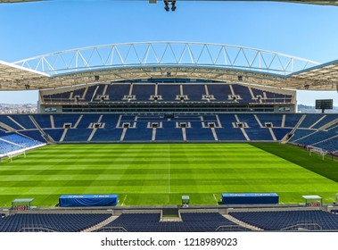 Porto, Portugal - April 2018: View on  Estadio do Dragao - the official arena of FC Porto