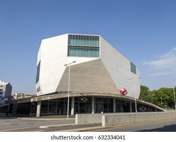 PORTO, PORTUGAL - APRIL 23: The Casa da Musica, the new home of the National Orchestra of Porto, stands on a new public square in the historic Rotunda da Boavista, Portugal in 2017