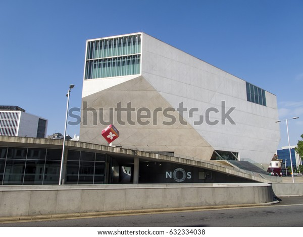 PORTO, PORTUGAL - APRIL 23: The Casa da Musica, the new home of the National Orchestra of Porto, stands on a new public square in the historic Rotunda da Boavista, Portugal in 2017