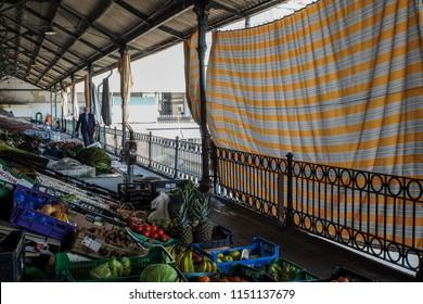 Porto, Portugal - April 3, 2017: Neoclassical Mercado do Bolhao from XIX century - before the renovation