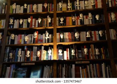 Porto, Portugal – February 3, 2019: Livraria Lello Bookstore in Porto, Portugal, Europe