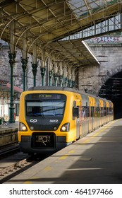 PORTO, PORTUGAL, JANUARY 2, 2016: Urban Train at Sao Bento Station in PORTO
