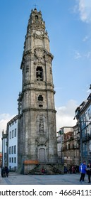 PORTO, PORTUGAL, JANUARY 2, 2016: The Clerigos Bell Tower (Torre dos Clerigos) in PORTO