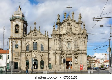 PORTO, PORTUGAL, JANUARY 2, 2016: Carmelitas Church (Igreja dos Carmelitas) and Carmo Church (Igreja do Carmo) in PORTO