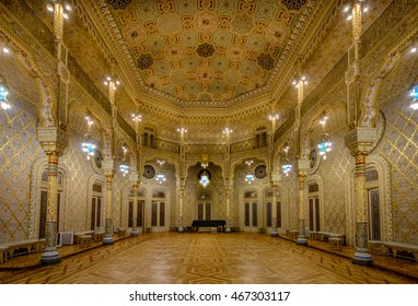 PORTO, PORTUGAL, JANUARY 3, 2016: Arab Hall (Salao Arabe) in Stock Exchange Palace (Palacio da Bolsa) in PORTO
