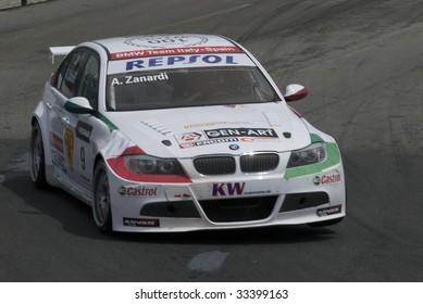 PORTO, PORTUGAL - JULY 5: ALESSANDRO ZANARDI of ITA in his BMW Team Italy-Spain participates in the FIA WORLD TOURING CAR CHAMPIONSHIP on July 5, 2009 in Porto, Portugal