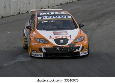PORTO, PORTUGAL - JULY 5: TOM CORONEL of NDL in his Seat Leon participates in the FIA WORLD TOURING CAR CHAMPIONSHIP on July 5, 2009 in Porto, Portugal