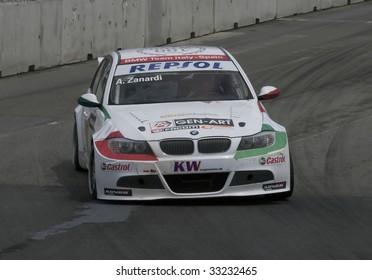 PORTO, PORTUGAL - JULY 6: ALESSANDRO ZANARDI of ITA in his BMW Team Italy-Spain participates in the FIA WORLD TOURING CAR CHAMPIONSHIP on July 6, 2009 in Porto, Portugal.