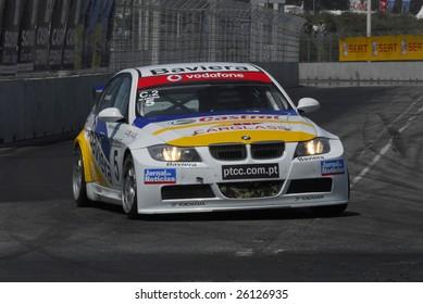 PORTO, PORTUGAL - JULY 8: Ni Amorim of POR in his BMW participates in the FIA WORLD TOURING CAR CHAMPIONSHIP  on July 8, 2007 in Porto, Portugal.