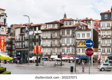 PORTO, PORTUGAL - JUN 21, 2014:  Architecture of the centre of Porto, Portugal. Porto is the second largest city in Portugal and it was called the European Culture Capital in 2001