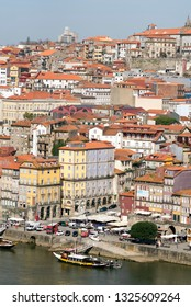 PORTO, PORTUGAL - MARCH 12, 2014: View of Porto from the Dom Luis I Bridge