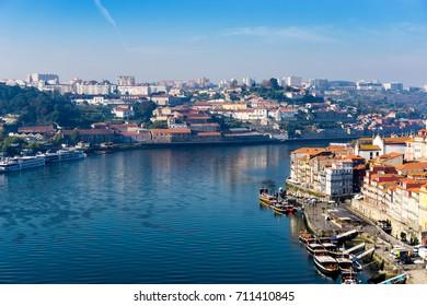 PORTO, PORTUGAL - November 17, 2016. old town of Porto and river, Portugal, Europe