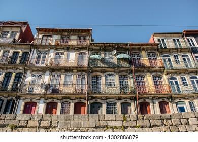 Porto, Portugal; October 2018: Portuguese architecture, street and buildings in Porto