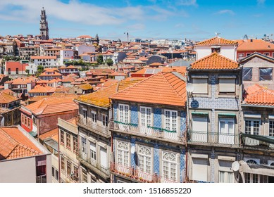 Porto, Portugal old town panoramic view.