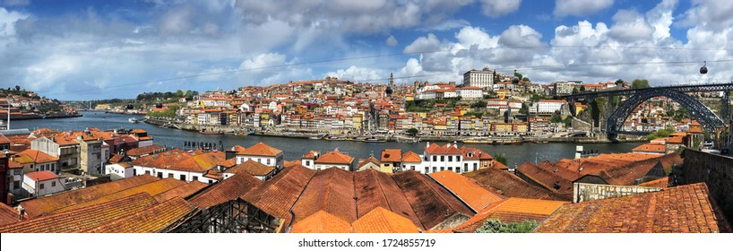 Porto, Portugal overlooking the city