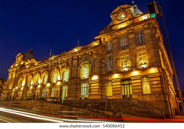 Porto, Portugal: Sao Bento railway station, one of the most important railway stations of the city, in Almeida Garret Square.