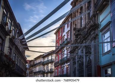 PORTO, PORTUGAL - SEPTEMBER 23, 2017. City landscape of Porto.