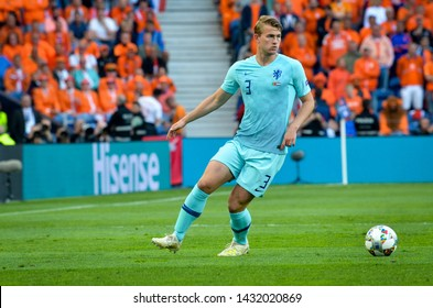 PORTO, PORTUGLAL - June 09, 2019: Matthijs de Ligt player during the UEFA Nations League Finals match between national team Portugal and Netherlands at Estadio do Dragao, Portugal