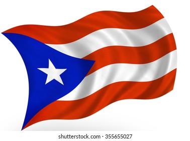 Porto Rico  flag, isolated